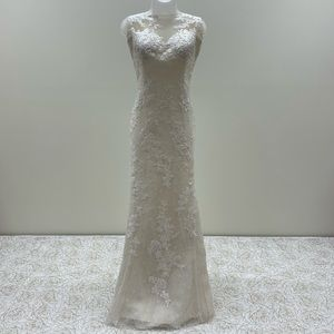 White One Designer Mermaid Wedding Dress NWT